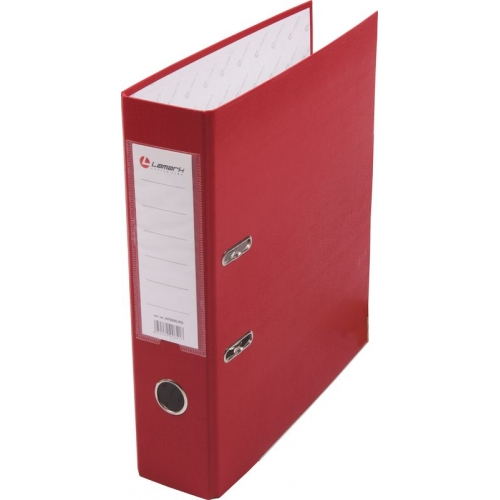 Анонс-изображение товара папка-регистратор lamark pp 80 мм  красный, металл. окантовка, карман af0600-rd1